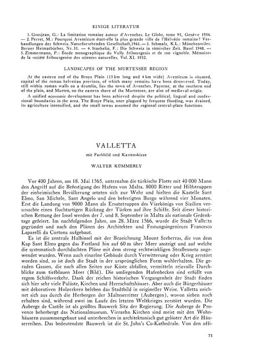 Valletta : Volume 20, Issue 2 (30/11/-00... by Kümmerly, W.