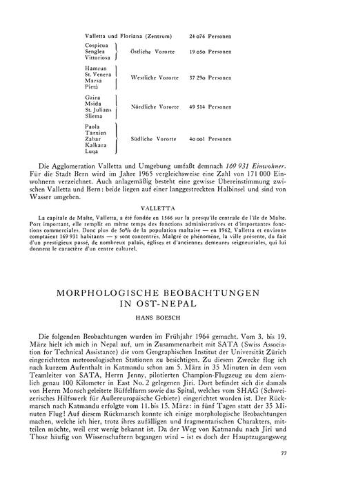 Morphologische Beobachtungen in Ost-nepa... by Boesch, H.