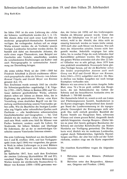 Schweizerische Landesatlanten Aus Dem 19... by Roth-kim, J.