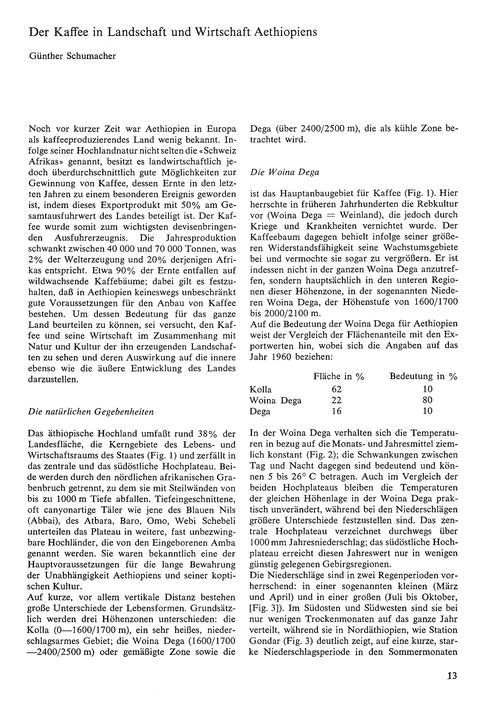 Der Kaffee in Landschaft Und Wirtschaft ... by Schumacher, G.
