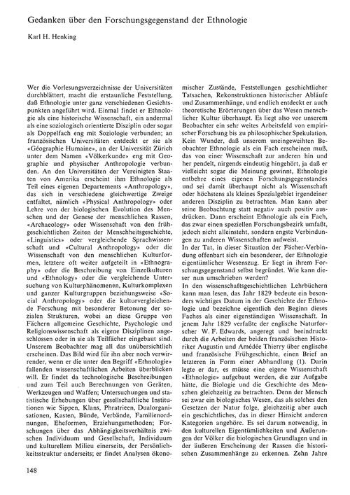 Gedanken Über Den Forschungsgegenstand D... by Henking, K. H.