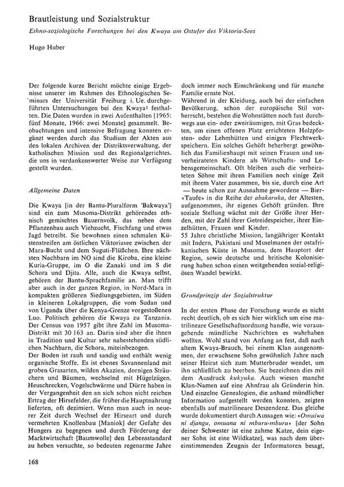 Brautleistung Und Sozialstruktur : Ethno... by Huber, H.