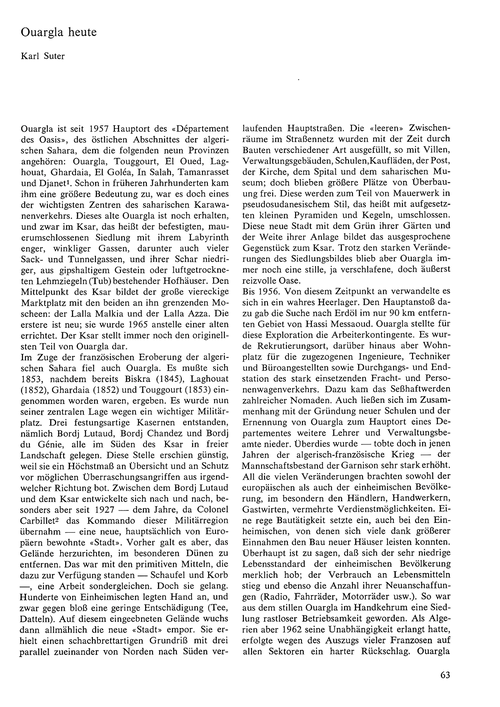 Ouargla Heute : Volume 21, Issue 2 (30/1... by Suter, K.