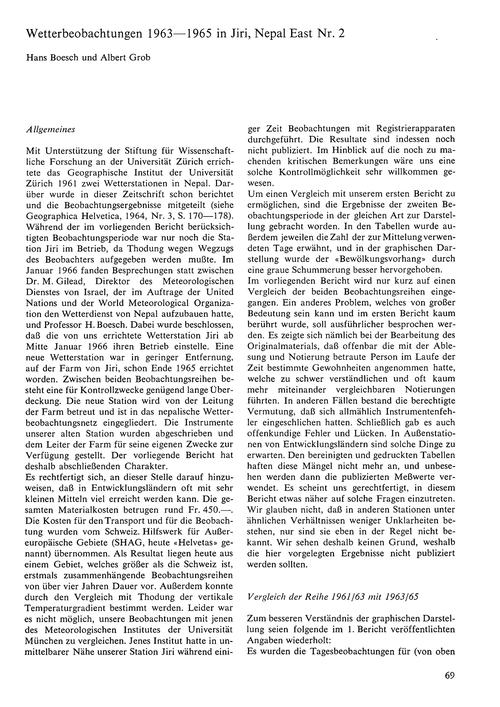 Wetterbeobachtungen 1963–1965 in Jiri, N... by Boesch, H.