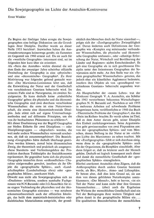 Die Sowjetgeographie Im Lichte Der Anuts... by Winkler, E.