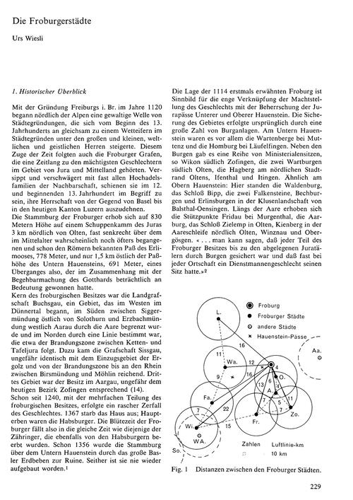 Die Froburgerstädte : Volume 22, Issue 4... by Wiesli, U.