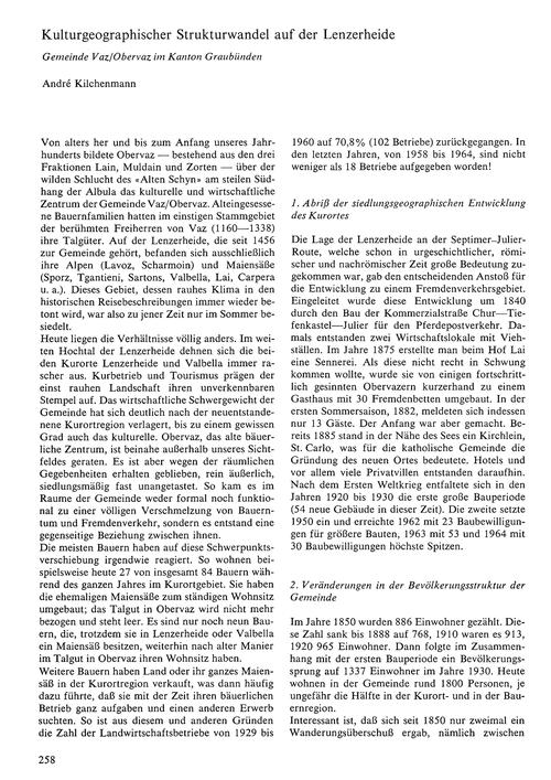 Kulturgeographischer Strukturwandel Auf ... by Kilchenmann, A.