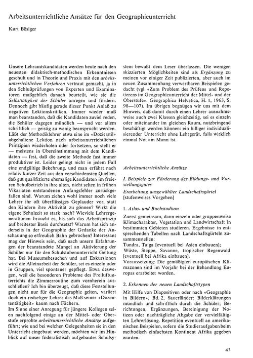 Arbeitsunterrichtliche Ansätze Für Den G... by Bösiger, K.