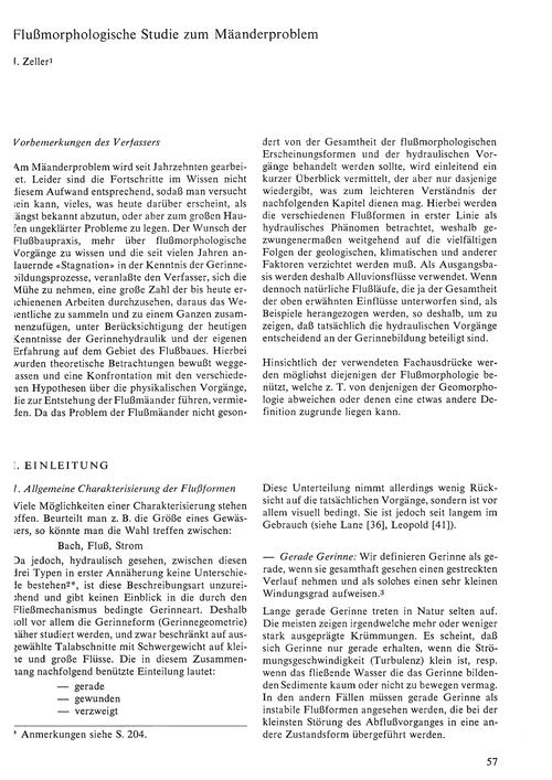 Flussmorphologische Studie Zum Mäanderpr... by Zeller, J.
