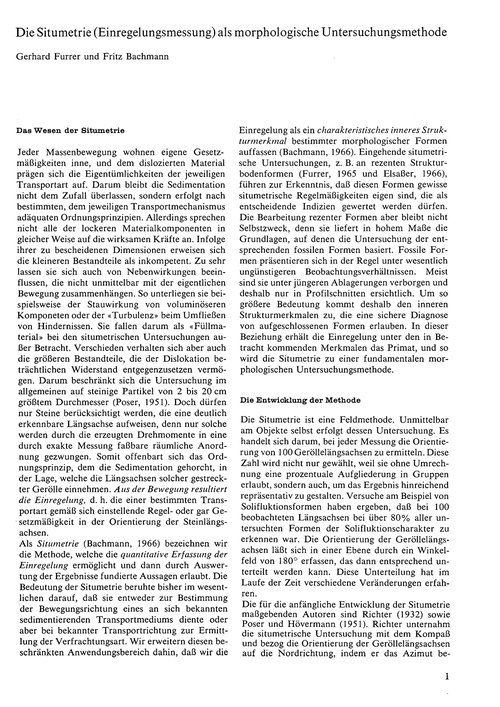 Die Situmetrie (Einregelungsmessung) Als... by Furrer, G.