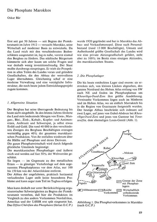 Die Phosphate Marokkos : Volume 23, Issu... by Bär, O.
