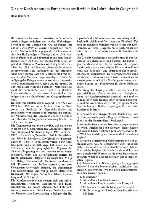 Die Vier Konferenzen Der Europarates Zur... by Bernhard, H.