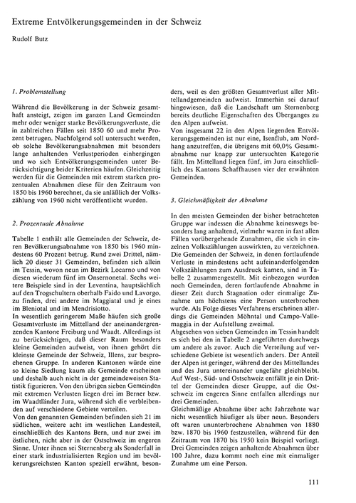 Extreme Entvölkerungsgemeinden in Der Sc... by Butz, R.