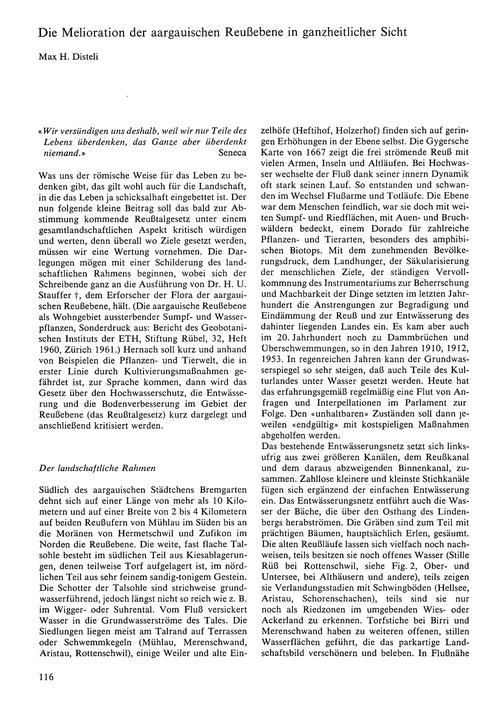Die Melioration Der Aargauischen Reusseb... by Disteli, M. H.