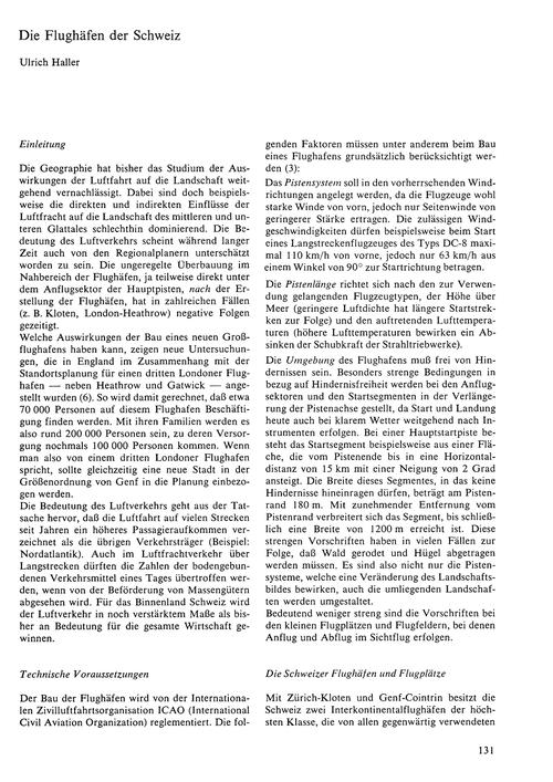 Die Flughäfen Der Schweiz : Volume 24, I... by Haller, U.