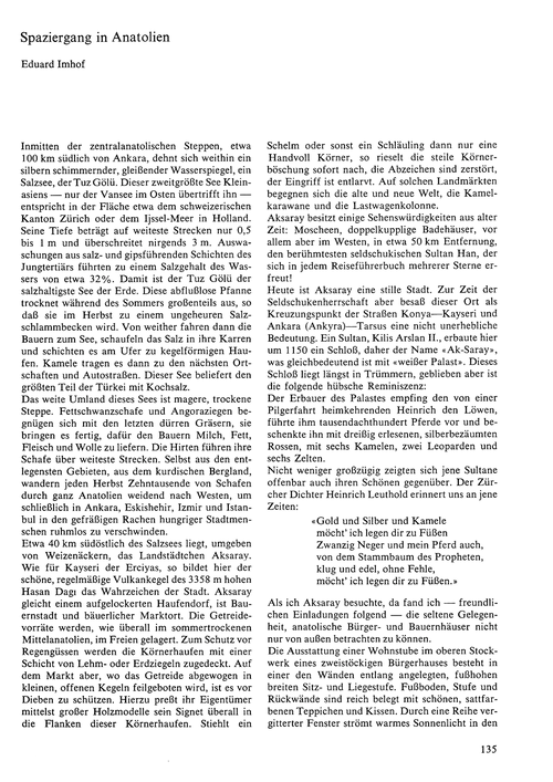 Spaziergang in Anatolien : Volume 24, Is... by Imhof, E.