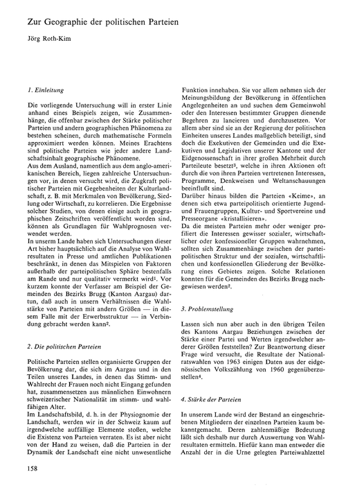 Zur Geographie Der Politischen Parteien ... by Roth-kim, J.
