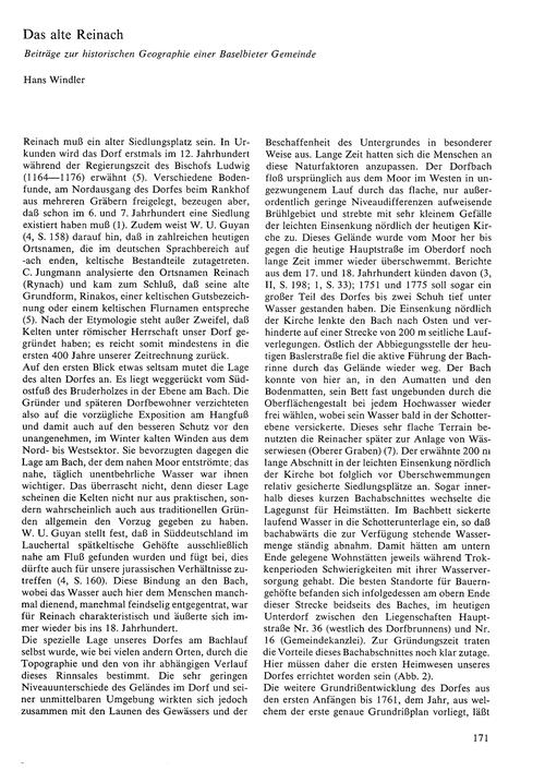 Das Alte Reinach : Beiträge Zur Historis... by Windler, H.