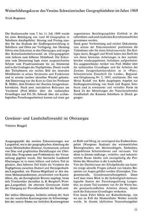 Weiterbildungskurse Des Vereins Schweize... by Bugmann, E.