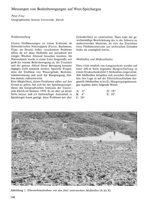Messungen Von Bodenbewegungen Auf West-s... by Fitze, P.