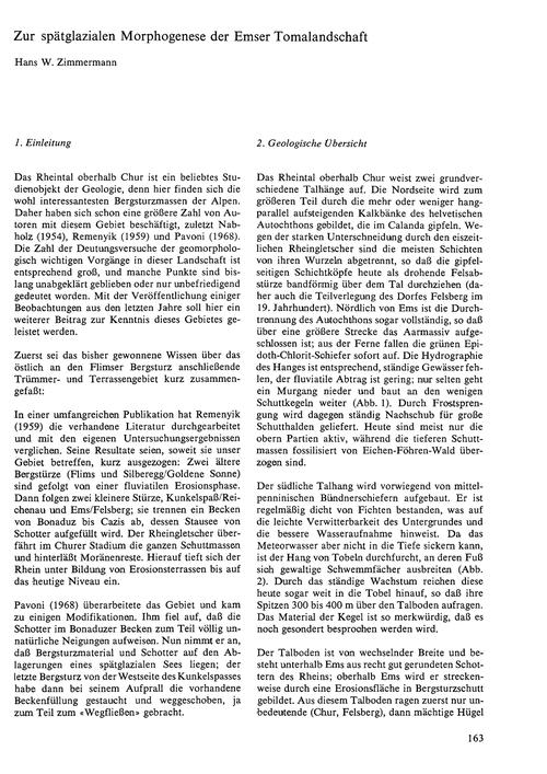 Zur Spätglazialen Morphogenese Der Emser... by Zimmermann, H. W.