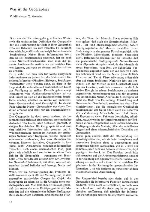 Was Ist Die Geographie? : Volume 26, Iss... by Mihailescu, V.