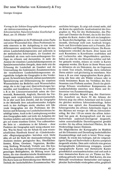 Der Neue Weltatlas Von Kümmerly & Frey :... by Grosjean, G.