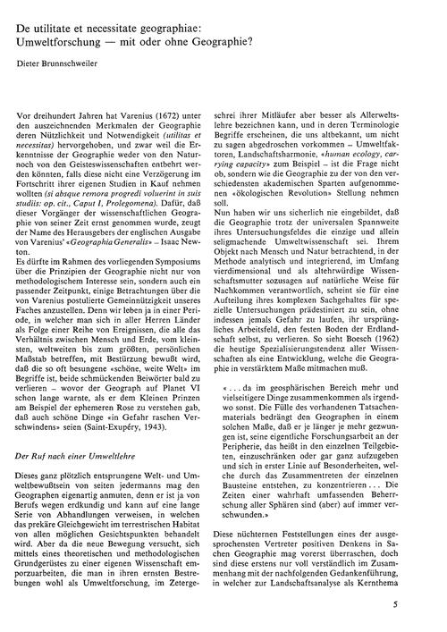 De Utilitate Et Necessitate Geographiae ... by Brunnschweiler, D.