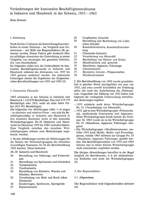 Veränderungen Der Kantonalen Beschäftigt... by Elsasser, H.
