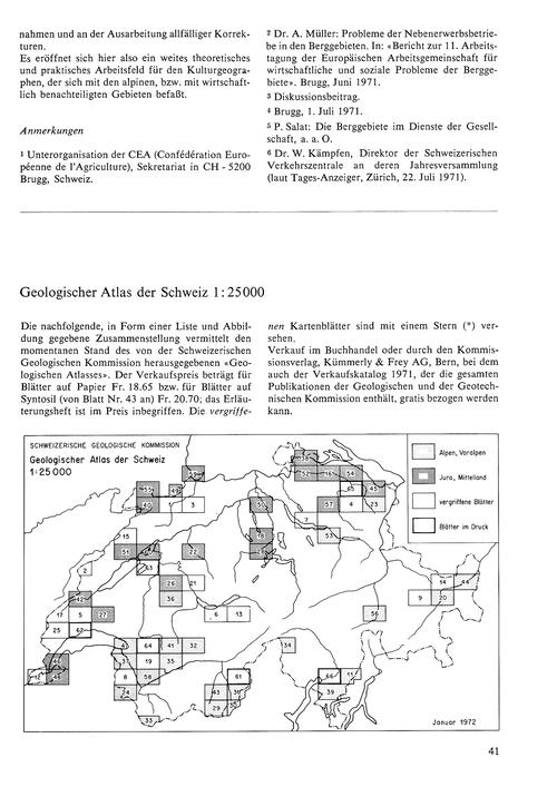 Geologischer Atlas Der Schweiz 1:25000 :... by