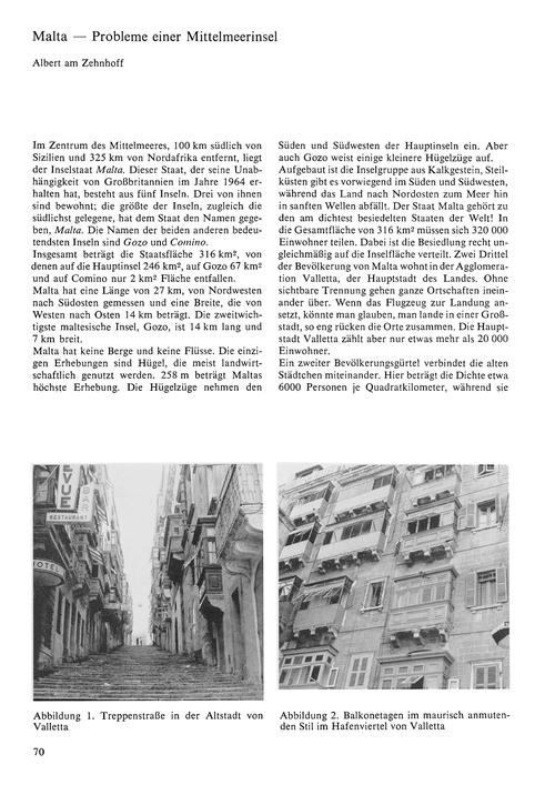 Malta : Probleme Einer Mittelmeerinsel :... by Zehnhoff, A.