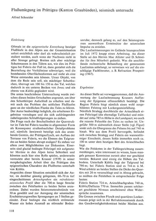Flussumlegung Im Prättigau (Kanton Graub... by Schneider, A.