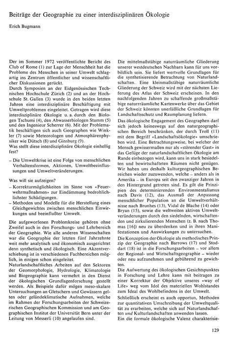 Beiträge Der Geographie Zu Einer Interdi... by Bugmann, E.