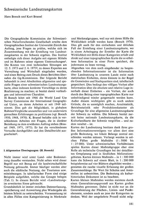 Schweizerische Landnutzungskarten : Volu... by Boesch, H.