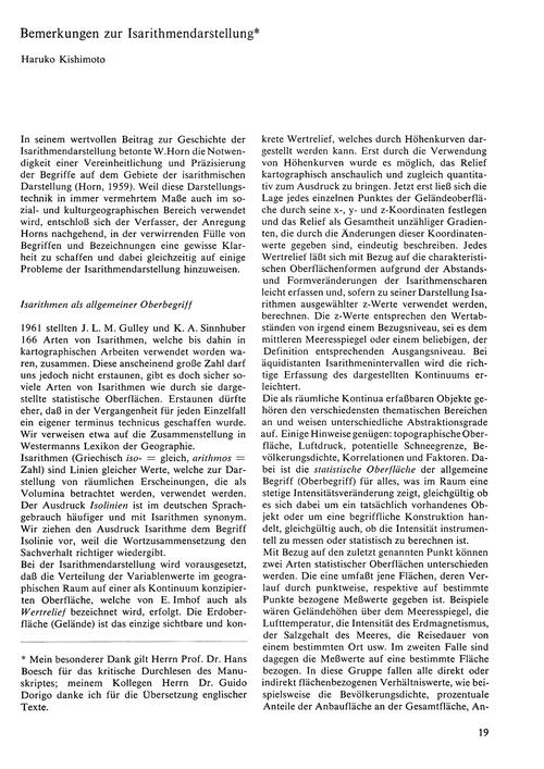 Bemerkungen Zur Isarithmendarstellung : ... by Kishimoto, H.