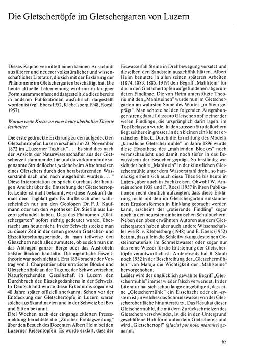 Die Gletschertöpfe Im Gletschergarten Vo... by Schifferli-amrein, M.