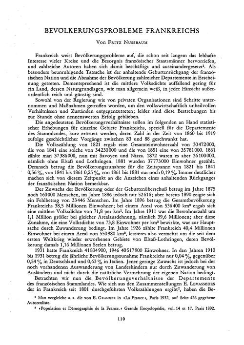 Bevölkerungsprobleme Frankreichs : Volum... by Nussbaum, F.
