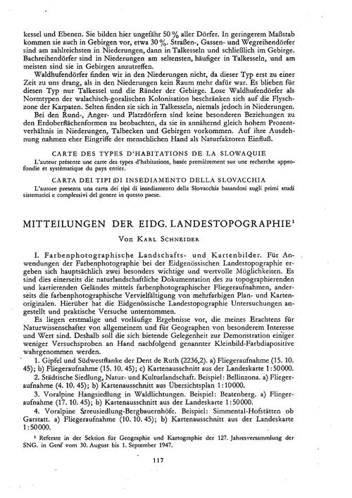 Mitteilungen Der Eidg. Landestopographie... by Schneider, K.