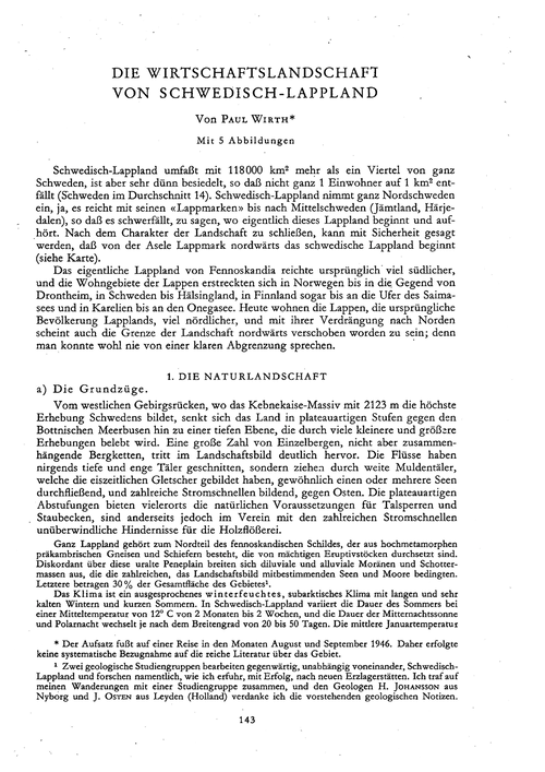 Die Wirtschaftslandschaft Von Schwedisch... by Wirth, P.