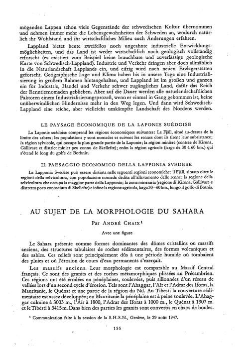 Au Sujet De La Morphologie Du Sahara : V... by Chaix, A.