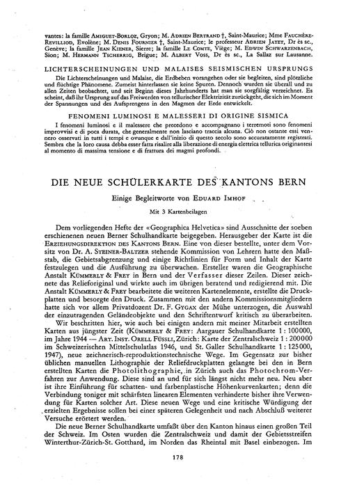 Die Neue Schülerkarte Des Kantons Bern :... by Imhof, E.