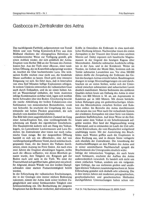 Gasbocca Im Zentralkrater Des Aetna : Vo... by Bachmann, F.