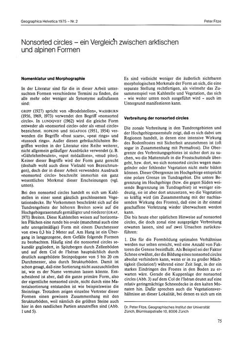 Nonsorted Circles : Ein Vergleich Zwisch... by Fitze, P.