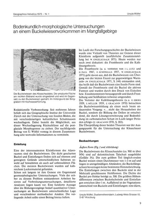 Bodenkundlich-morphologische Untersuchun... by Wölfel, U.