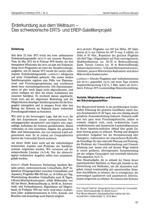 Erderkundung Aus Dem Weltraum : Das Schw... by Haefner, H.