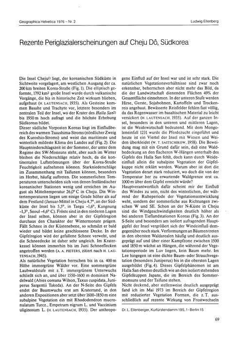 Rezente Periglazialerscheinungen Auf Che... by Ellenberg, L.