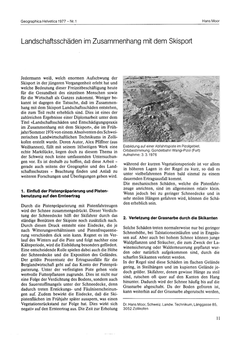 Landschaftsschäden Im Zusammenhang Mit D... by Moor, H.