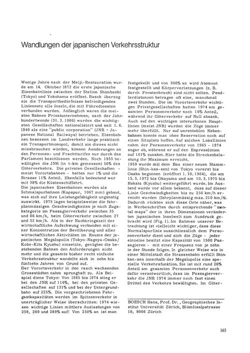 Wandlungen Der Japanischen Verkehrsstruk... by Boesch, H.
