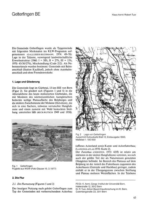 Gelterfingen Be : Volume 32, Issue 2 (30... by Aerni, K.