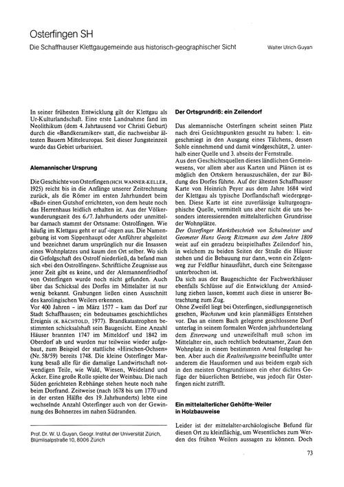 Osterfingen Sh : Die Schaffhauser Klettg... by Guyan, W. U.